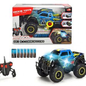 Dickie Toys - Fjernstyret Monster Truck Bil Til Børn - Rc Illuminator