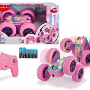 Dickie Toys - Fjernstyret Rc Bil Med Lys - Pink