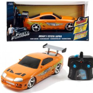 Fast And Furious - Rc Fjernstyret Bil - Brians Toyota Supra - Orange