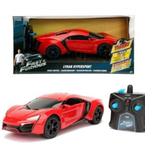 Fast And Furious - Rc Fjernstyret Bil - Lykan Hypersport Turbo - Rød