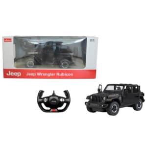 Rastar fjernstyret bil - Jeep Wrangler - Sort