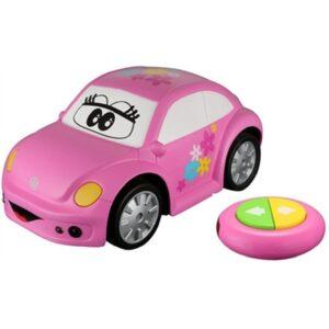 Vw Volkswagen Bobbel - Fjernstyret Rc Bil Til Børn - Pink