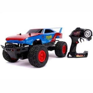 Spider-man - Fjernstyret Bil Til Børn - Daytona - Rød Blå